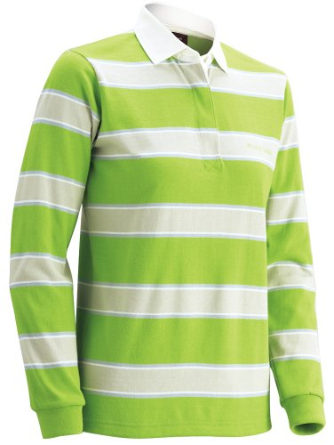 (Mont-Bell) mont-bell WIC. The Rugby Long Sleeve Women's 1104783 SGIV Spring Green / ivory M