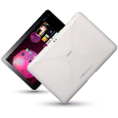 Silikonhülle Tasche Cover Hülle Case für das Ultra Slim Samsung Galaxy Tab 2 P3100 & P3110 inkl. Displayfolie X-Style Clear
