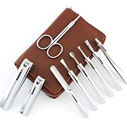 Omuda High Quality Manicure Pedicure 9 Piece Professional Set (OMD:33030)