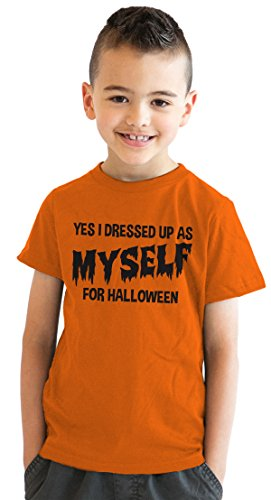 Youth I Dressed Up As Myself For Halloween T Shirt Funny Costume Tee For Kids