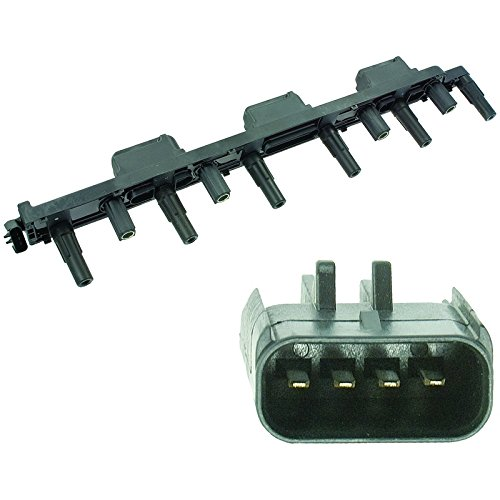 New-Ignition-Coil-Jeep-CherokeeGrand-CherokeeTJWrangler-2000-2006-UF296-IC399-PPCUF296-12115-250056-250598347-353W-50056-50064C-CUF296-521654-56041476AA-56041476AB-5C1181-98347-C1263-C523-CU1501