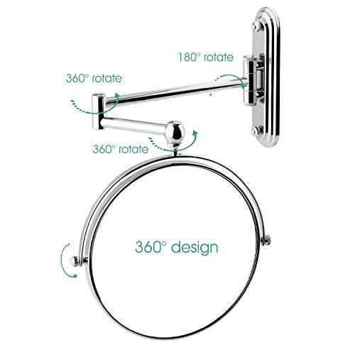 Spaire espejo de ba o aumento espejo de pared plegable 8 - Espejos de aumento para bano ...