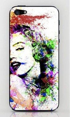 並行輸入品マリリン・モンロー society6 iphone 5/5sステッカー (Marilyn1)