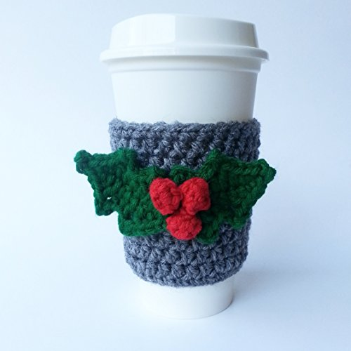 coffee-sleeve-coffee-cup-cozy-grey-with-holly-applique