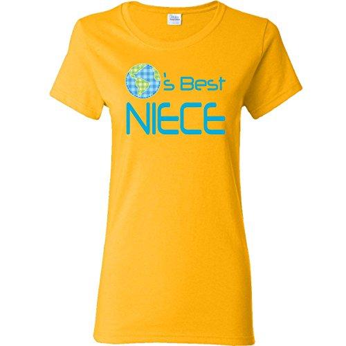 Inktastic Worlds Best Niece Women's T-Shirt Medium Gold