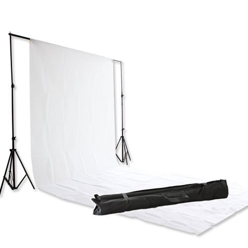 Studio 2.8 x 3 m 9ft 10ft Background Stand Support with 3 x 6 m 10ft 20ft White Backdrop Kit Photography Photographic... Black Friday & Cyber Monday 2014