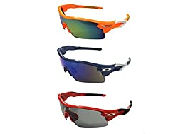 FashioNext Unisex Combo (Tree Colours) Sports Wear Sunglasses (FNS0323)