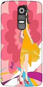 Snoogg Urban Girl 2825 Designer Protective Back Case Cover For LG G2