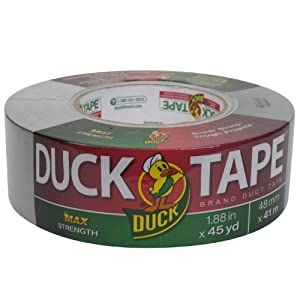 Duck Brand 240201 MAX Strength Duct Tape, 1.88 Inch by 45-Yard, Silver