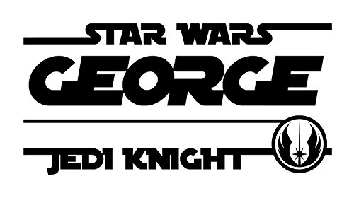 Custom Star Wars Jedi Knight Wall Decal - Personalize with Your Name and Color - Comes in Two Sizes - 20