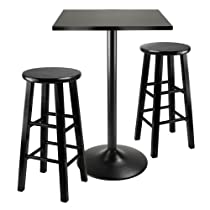 Hot Sale Winsome Obsidian 3-Piece Pub Table Set