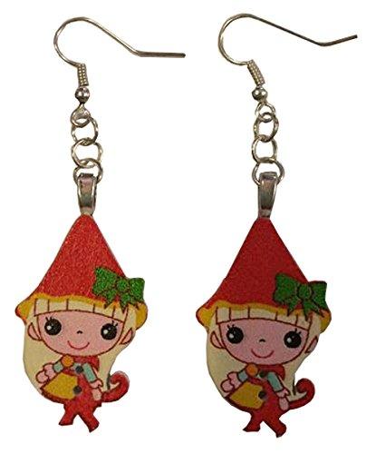 Anime Elf Red Dangle Earrings ()