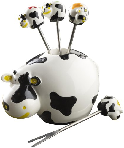 Boska Holland Dutch Collection 7 Piece Cow Party Pick Set