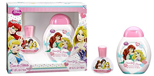 Disney, Principesse, Set con Eau de Toilette (30 ml) e Bagnoschiuma (300 ml)