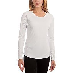 Vapor Apparel Women\'s UPF Long Sleeve Solar Performance T-Shirt Large White