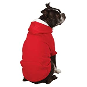 Zack & Zoey Polyester Fleece Lined Dog Hoodie, XX-Large, Tomato Red