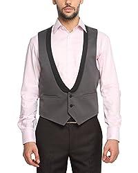 Suitltd Men's Slim Fit Waistcoat (VT0018_Grey_Small)