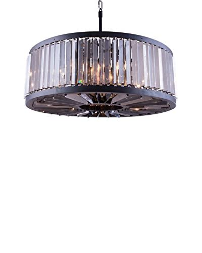 Urban Lights Chelsea 10-Light Pendant Lamp, Mocha Brown/Silver