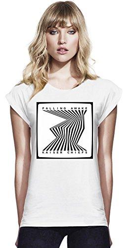 Kaiser Chiefs Falling Awake Continental T-shirt manica laminati delle donne Women Rolled Sleeve T-Shirt Stylish Fashion Fit Custom Apparel By Genuine Fan Merchandise Medium