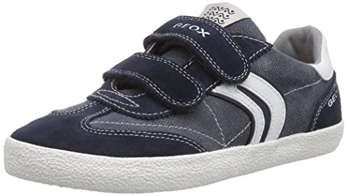 Geox JR KIWI BOY M, Low-Top Sneaker bambino, (Multicolore (Navy/Off White)), 31
