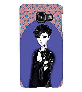 iFasho Girl in Black Jacket Back Case Cover for Samsung Galaxy A3 A310 (2016 Edition)