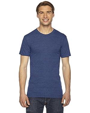 American Apparel Unisex Tri-Blend Short Sleeve Track Shirt - Tri-Indigo - X-Large