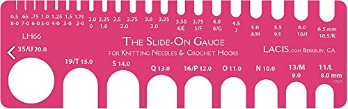 Lacis Slide On Crochet Gauge 8-0 To 35