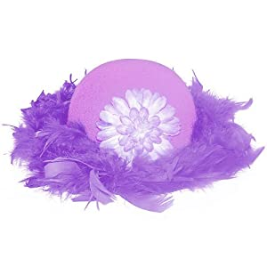 Child Purple Feather Tea Party Hat