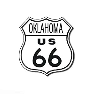 Route 66 Oklahoma Highway Road Tin Sign Tin Sign , 11x11