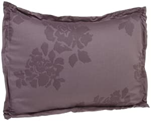 Vera Wang Bouquet Pillow Sham, Mulberry/Silver Lilac, King