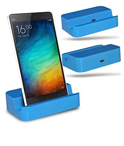 Xiaomi Mi 4i Station d'accueil de bureau avec chargeur Micro USB support de chargement - Blue - By Gadget Giant®
