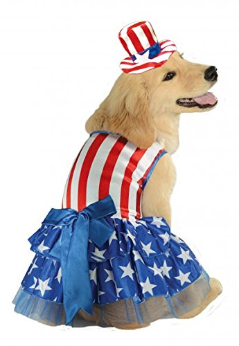 Rubies Costume 4th of July Collection Pet Costume, Medium, Patriotic Pooch Girl