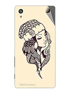 Miicreations Mobile Skin Sticker For Sony Xperia Z5,Girl Sketch