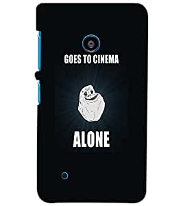 NOKIA LUMIA 530 ALONE Back Cover by PRINTSWAG