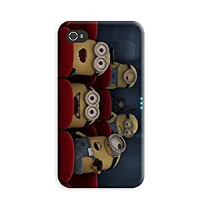 Aurmen High Quality Printed Designer Back Case Cover for Apple Iphone 4s (Minion13)
