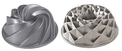 Set of 2 Nordic Ware Cake Jubilee and Heritage Bundt Pans (Heritage Cake Pan compare prices)
