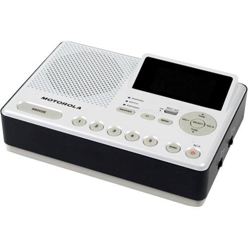 Motorola Mwr839 Desktop Weather-Alert Radio (White/Black)