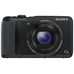 Sony DSC-HX20VB Cyber-shot Digitalkamera (18,2 Megapixel, 20-fach opt. Zoom, 7,5 cm (3 Zoll) Display, Schwenkpanorama) schwarz