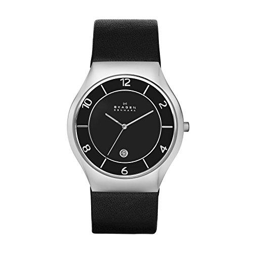 Skagen - SKW6115 - Montre Homme - Quartz - Analogique - Bracelet Cuir Noir