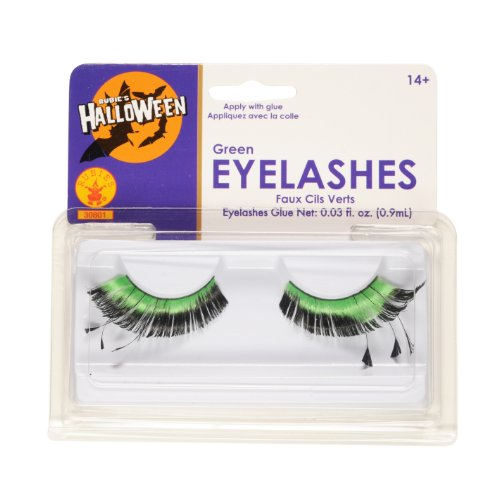 Rubies Green Eyelashes and Adhesive
