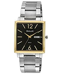 Omax Analog Black Dial Mens Watch - SS385