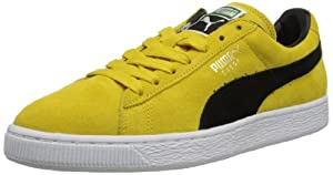 PUMA Suede Classic+ Sneaker,Vibrant Yellow/Black,11.5 M US