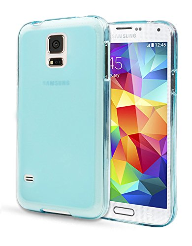 Note2 Case, Aqua Jelly Cover, Samsung Galaxy Note 2, Soft Thin Mobile 5 Colors Ultra Slim Fit (At&T, Verizon, Sprint, T-Mobile) Tpu - Retail Packaging (Sky Blue)