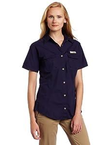Columbia Women's Bonehead Short Sleeve Fishing Shirt (Eclipse Blue, X-Small)