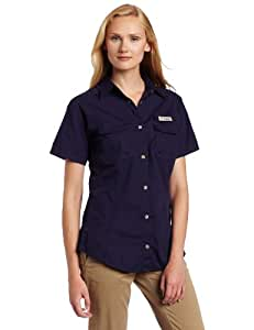 Columbia Women's Bonehead Short Sleeve Fishing Shirt (Eclipse Blue, X-Small)
