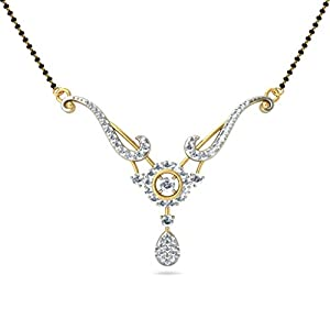 Certified 18K Yellow Gold 0.97 cttw White-Diamond (FG | VS) mangalsutra