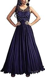Angel Fashion Studio Women's Georgette Unstitched Dress Material (Blue)