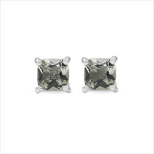0.60 Carat Genuine Amethyst Sterling Silver Earrings