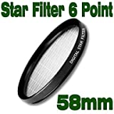 Emolux 58mm Star 6 Point Filter(SQM6027)