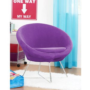 The Plush Orb Chair For Kids Purple Stardust Living Room Chairs